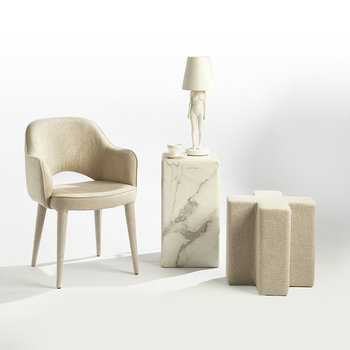 Cross Stool - Ecru