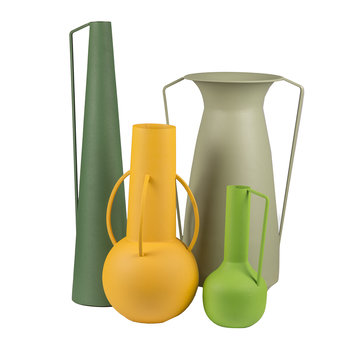 Roman Vases - Set of 4 - Green