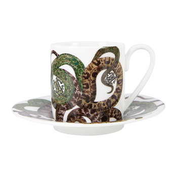 Snakes Regalo Coffee Cup and Saucer - Set of 2