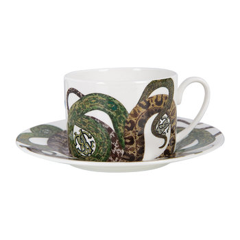 Snakes Regalo Teacup and Saucer - Set of 2