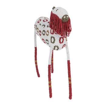 Animal Ornament - White/Red - Large