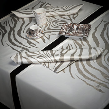 Zebrage Table Runner - Ivory