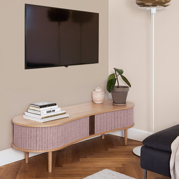 Audacious TV Bench - Dusty Rose