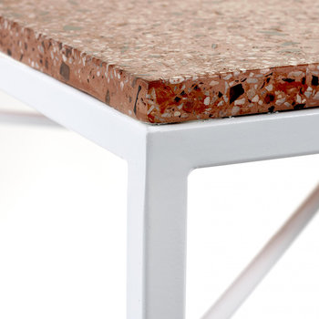 Terazzo Side Table - Rose