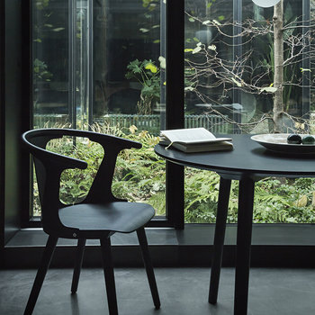 In Between Dining Table SK4 - Black Stained Oak