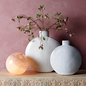 Jenava Ceramic Vase - White