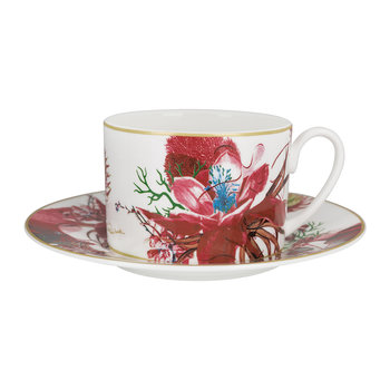 Flowers Regalo Teacup and Saucer - Set of 2