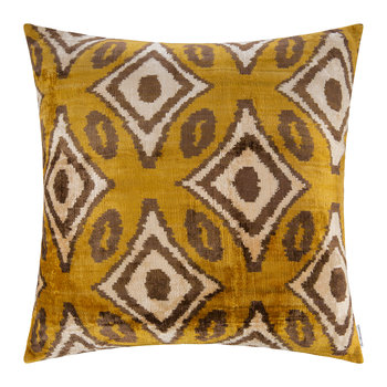 Velvet Pillow - 60x60cm - Multicolor Zig Zag Pattern