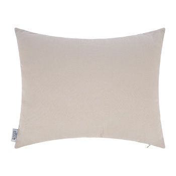 Velvet Cushion - 40x50cm - Blue/White Pattern
