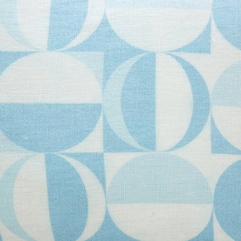 Sorrento Circles Cushion - Blue/White