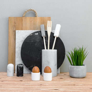 Marble Utensil Holder - White