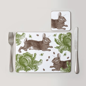 Rabbit & Cabbage Placemat - Set of 4