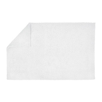 Reversible Rug Bath Mat - White