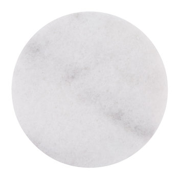 Round Marble Serving Board - White