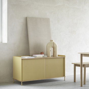 Enfold Low Sideboard - Sand Yellow