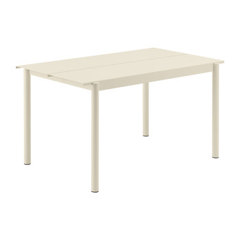 Linear Steel Table - White