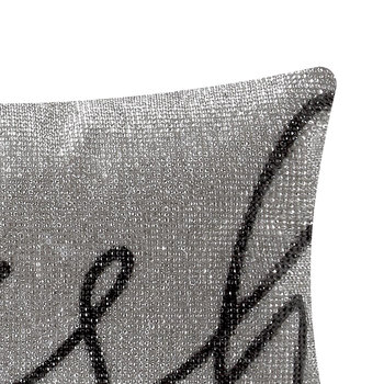 Wish Cushion - Silver - 18x32cm