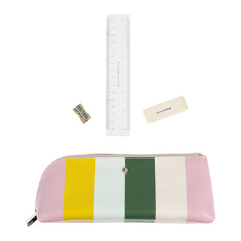 Multi Stripe Pencil Case