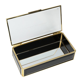 Out Of The Box Glass Jewelry Box - Black