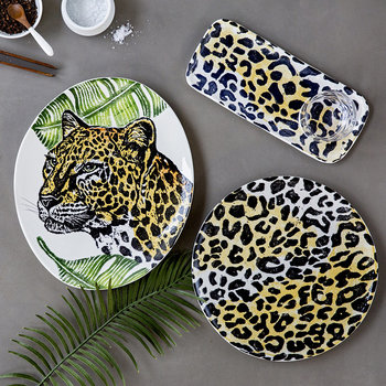 Into The Jungle Narrow Cheetah Tray - Medium