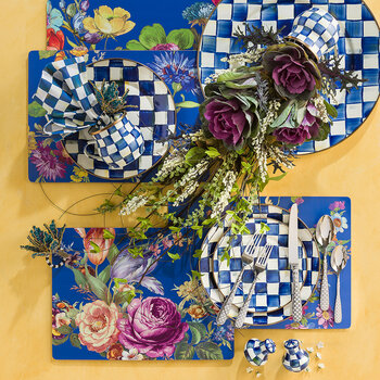Flower Market Cork Back Placemat - Set of 4 - Lapis