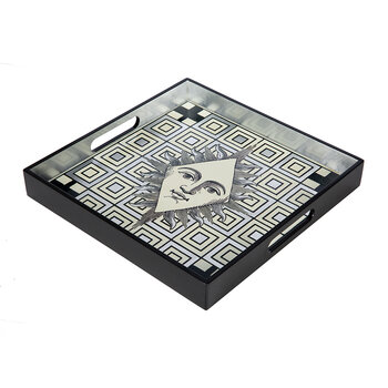 Poker Face Square Lacquer Tray
