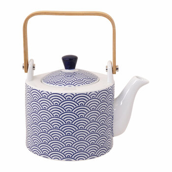 Nippon Blue Straight Teapot - Wave