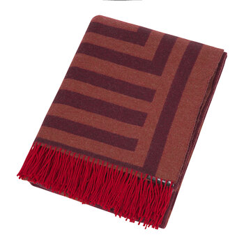 1828 Fringed Blanket - Rust