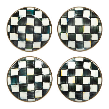 Courtly Check Canape Plate - Set of 4