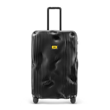 Stripe Suitcase - Black