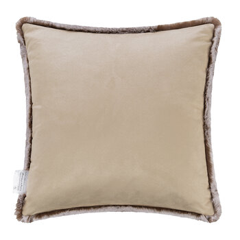 Faux Fur Pillow - Chestnut - 45x45cm