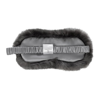 Faux Fur Eye Mask - Anthracite Grey