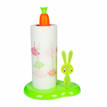Bunny & Carrot Kitchen Roll Holder - Green