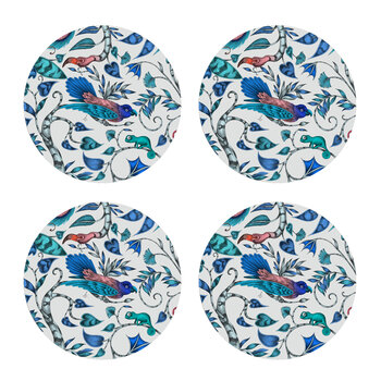 Rousseau Coaster - Set of 4 - Blue