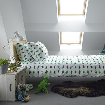 Bedlinen Set in Bag - Dinosaur - Single