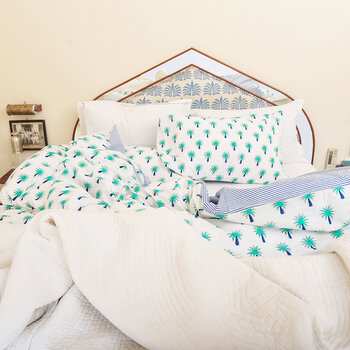 Bedlinen Set in Bag - Turquoise Palm Tree