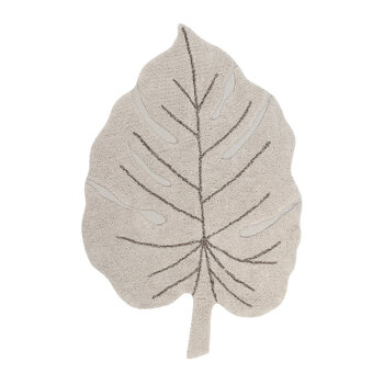 Monstera Washable Rug - Natural