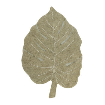 Monstera Washable Rug - Olive