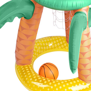 Inflatable Tropical Island Basketball Set