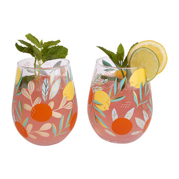 Stemless Glasses - Dolce Vita - Set of 2