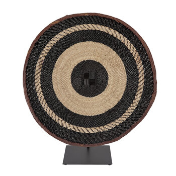 Tonga Basket Ornament - Large - Black Stripe