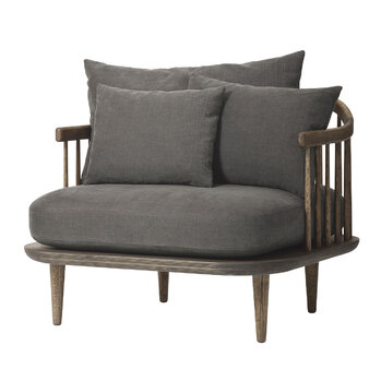Fly Armchair - Smoked/Hot Madison