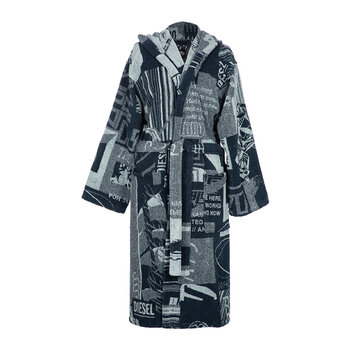 Nippon Hooded Bathrobe - Blue