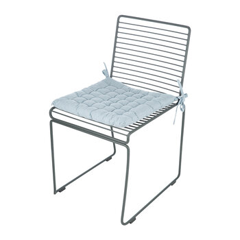 Leal Cotton Chair Pad - White/Nordic Blue