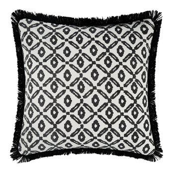 Diamond Print Cushion Cover - Black/White - 50x50cm