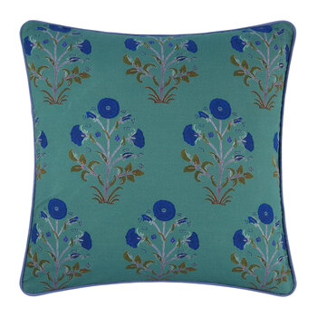 Samode Rose Printed Cushion Cover - 50x50cm - Agath