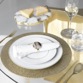 Woven Beaded Placemat - Set of 2 - Gold