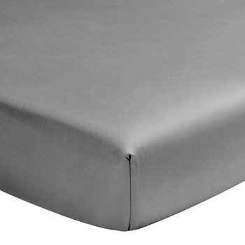 Teo Fitted Sheet - Steel Gray
