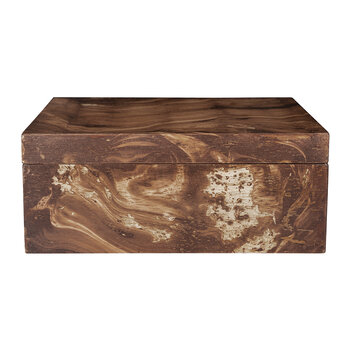 Dark Marble Wooden Trinket Box