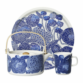 Oiva/Mynsteri Mug - White/Blue